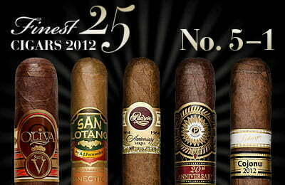Cigar Journal Top Ten 2012